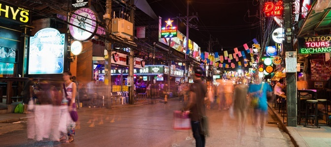 Street at night in Phuket