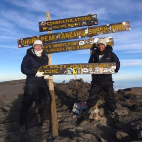 Globetrooper.com founders Lauren & Todd on Mt. Kilimanjaro