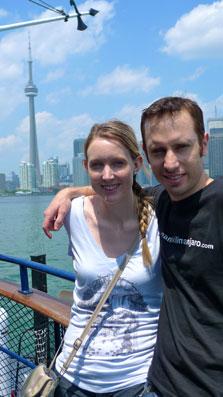 Globetrooper.com founders Lauren and Todd in Toronto