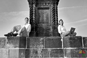 The tech-savvy travel bloggers of UncorneredMarket.com in Prague