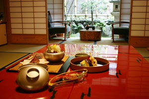 Lunch at a ryokan