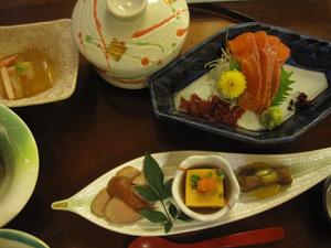 Dinner at Kaikake Onsen