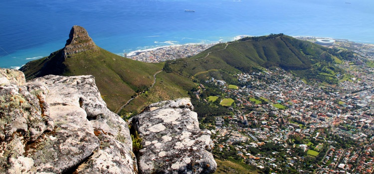 View from Table Mountain, on Cape Town