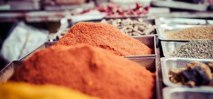 Colored Spices in India