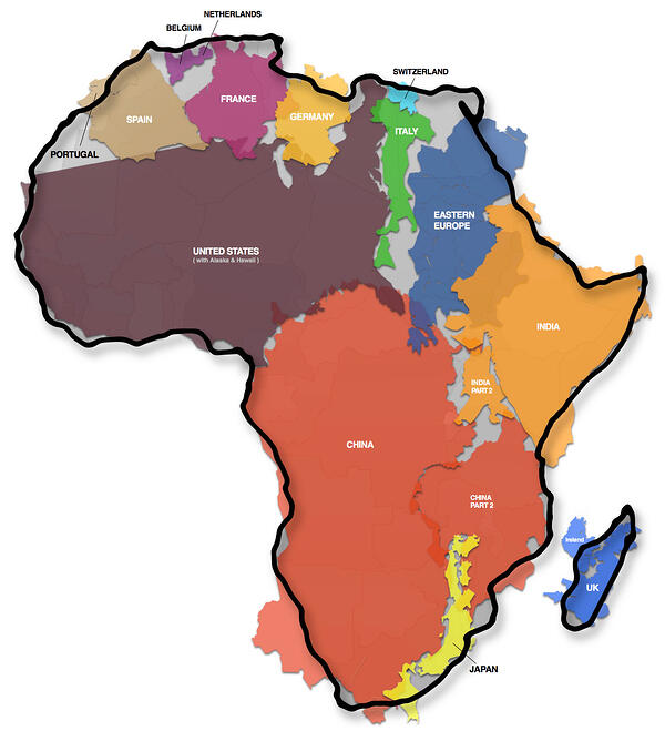 True Size of Africa
