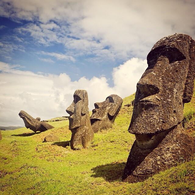 Moai on Easter Island